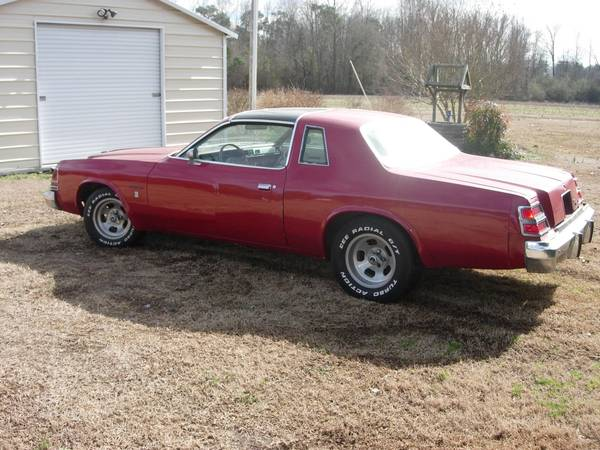 1979 dodge magnum xe gt 360 auto for sale in farmville north carolina. Black Bedroom Furniture Sets. Home Design Ideas